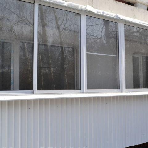 Картинка остекленного балкона 6 метров